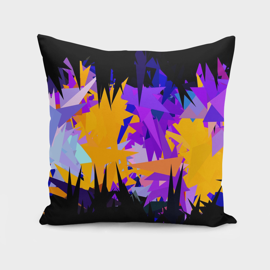 geometric triangle pattern abstract in purple yellow