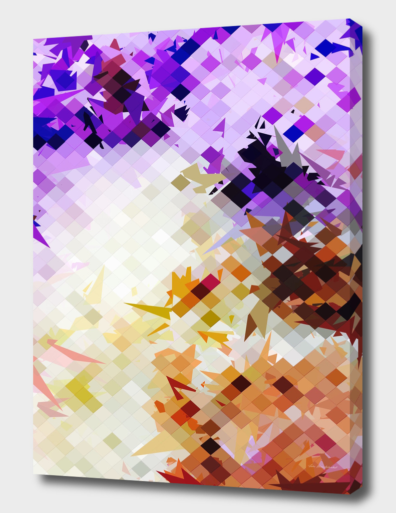 geometric square pixel pattern abstract background in purple