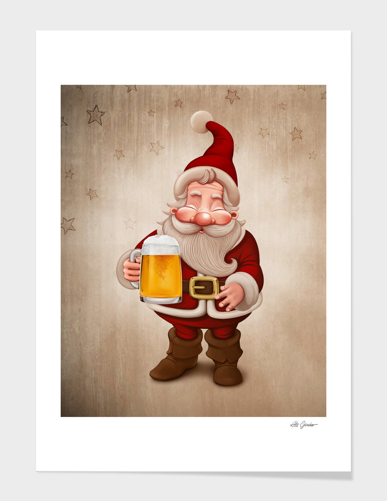 Santa Claus loves Beer