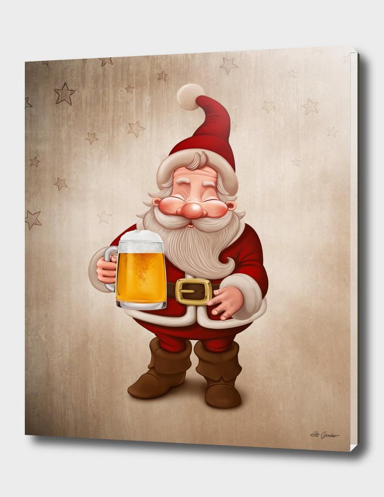 Santa Claus loves Beer
