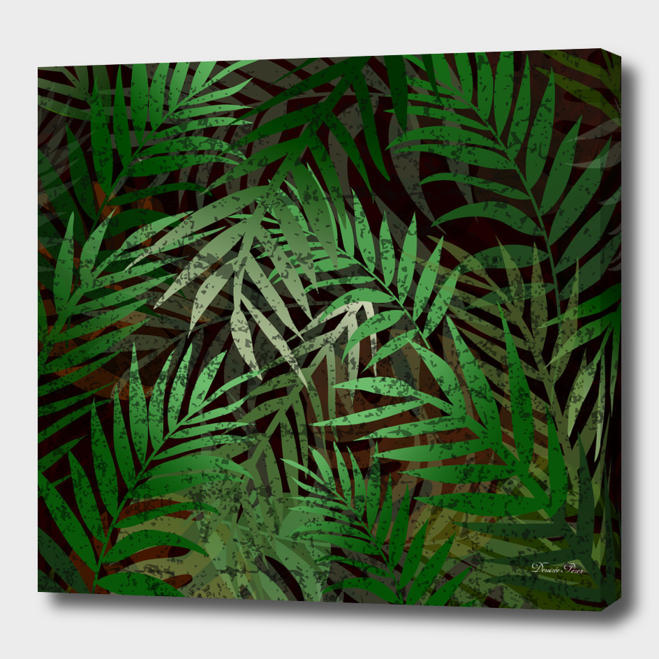 TROPICAL GREEN LEAVES BROWN B