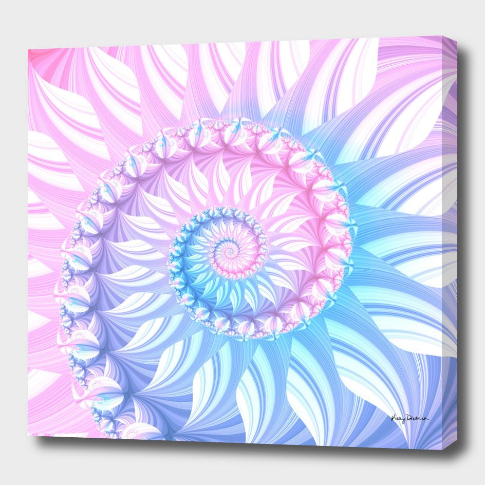 Striped Pastel Spiral