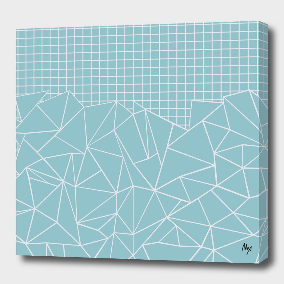 Ab Outline Grid Sky Blue