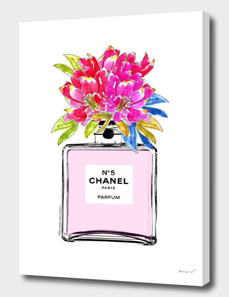 Chanel Perfume Floral Pastel