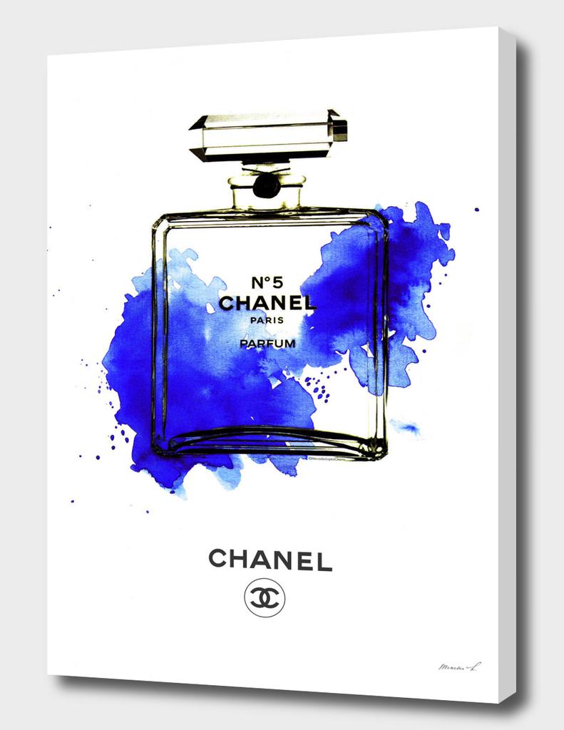 Chanel Bottle Blue