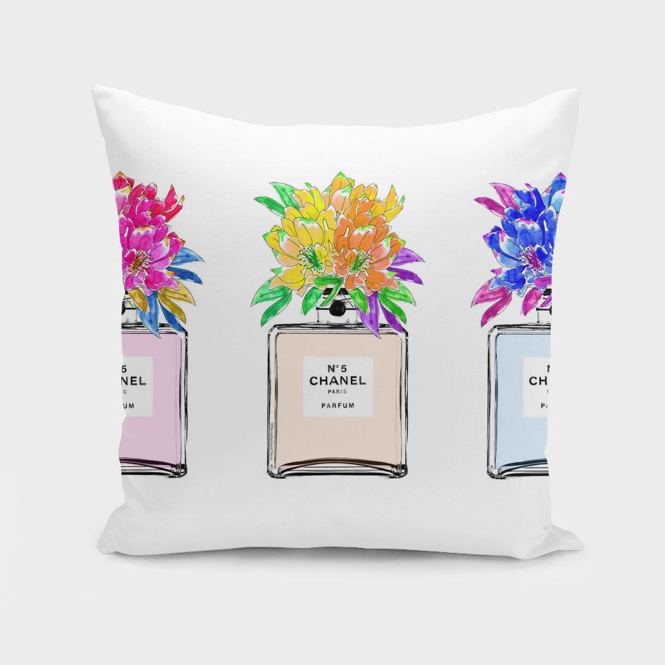3 Pastel Chanel Perfume Bottles