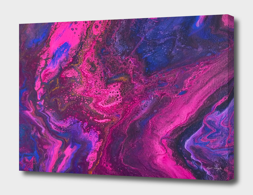Galaxy Acrylic Dirty Pour