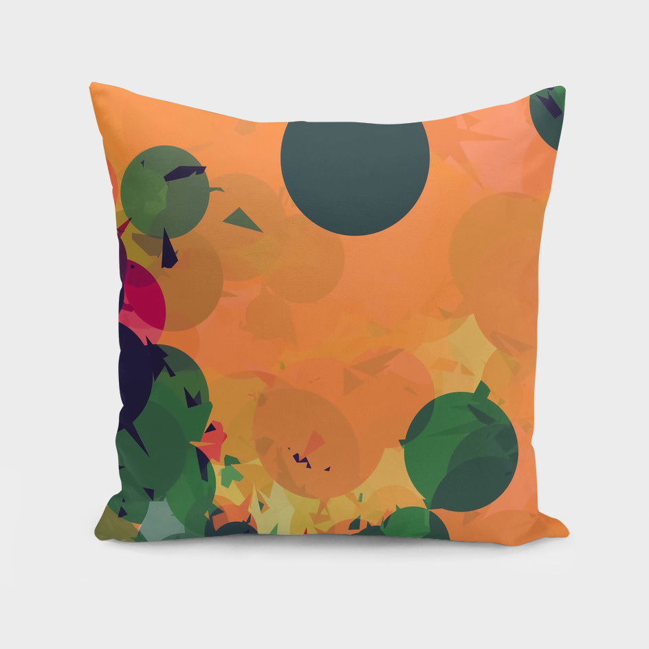 geometric circle and triangle pattern abstract in orange
