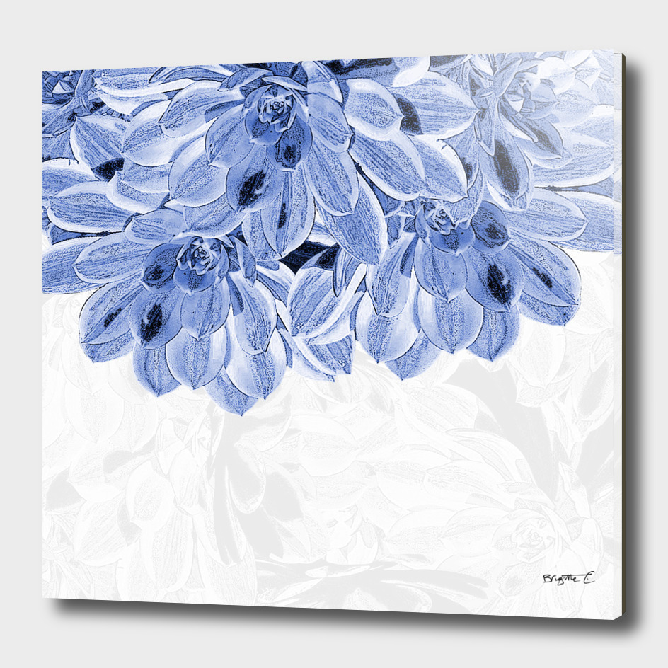 Elegant Blue Flowers Design