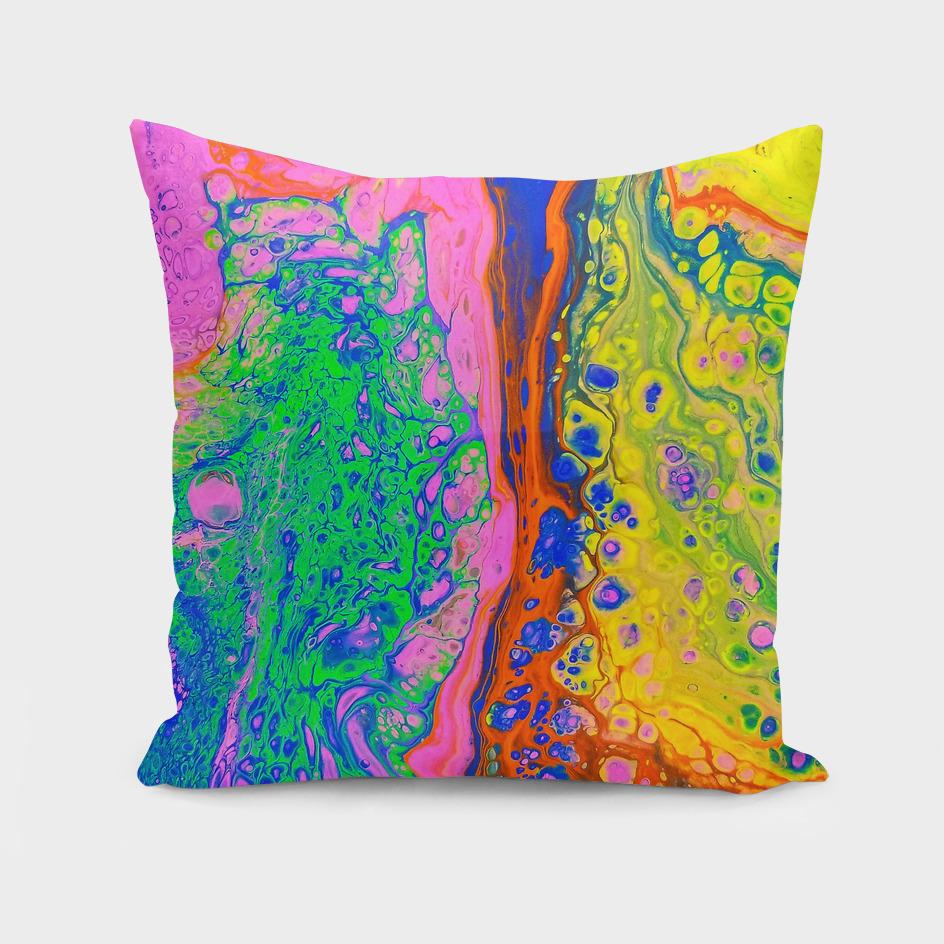 Rainbow Acrylic Dirty Pour