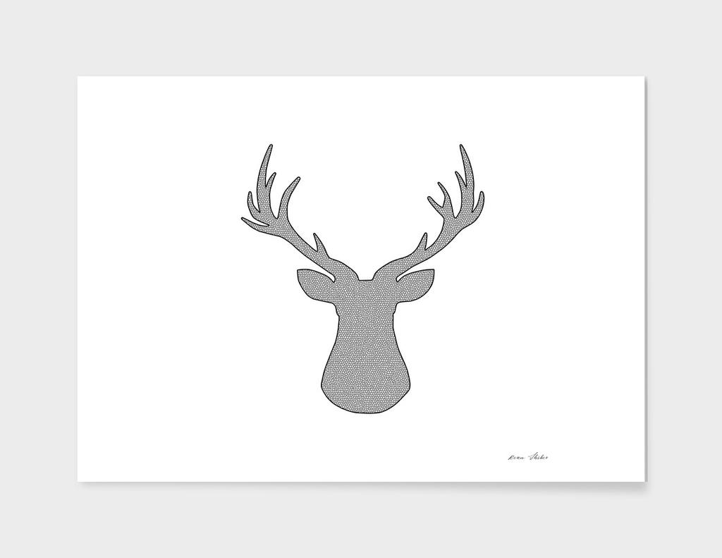 Deer - geometric pattern.