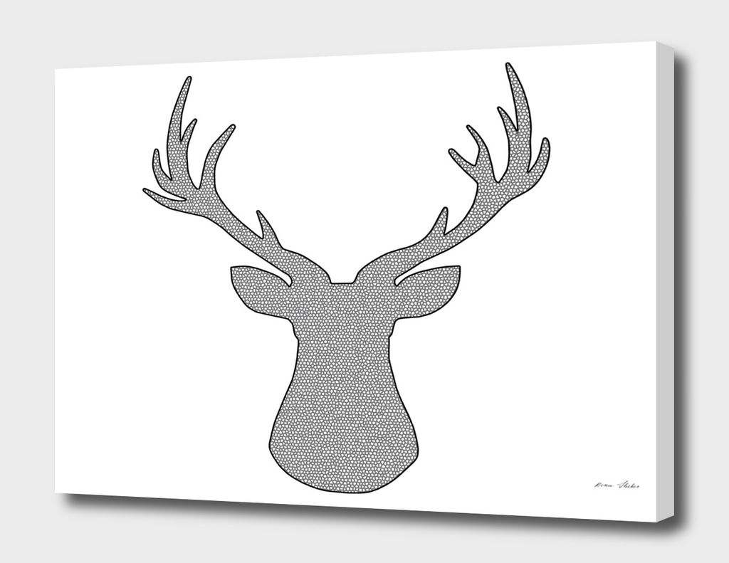 Deer - geometric pattern.