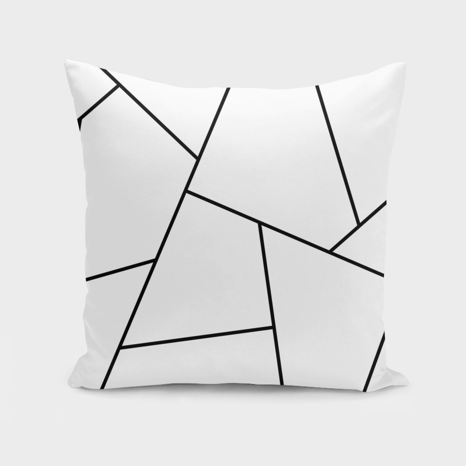 Abstract geometric pattern -black and white.