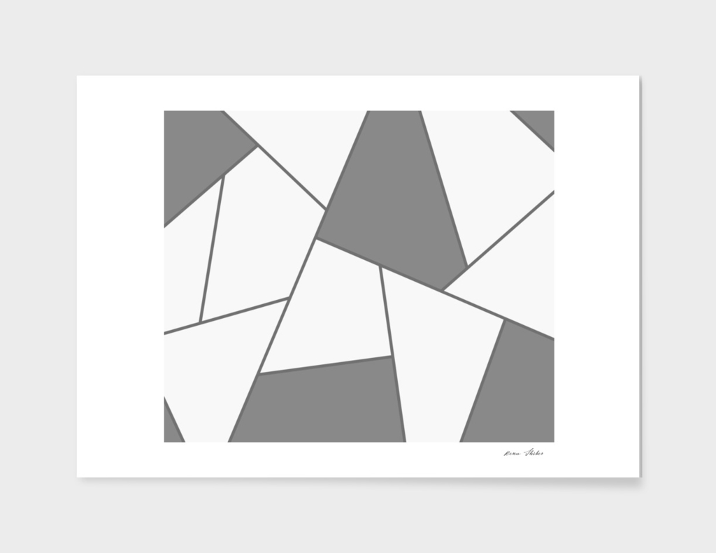 Abstract geometric pattern - gray.