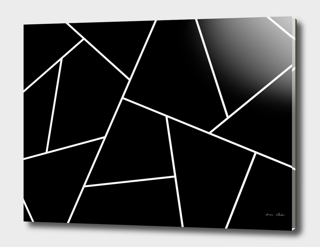 Abstract geometric pattern - black and white.