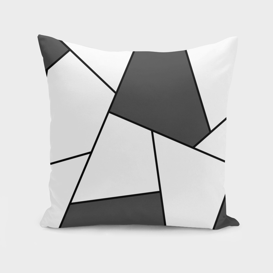Abstract geometric pattern - gray and black.