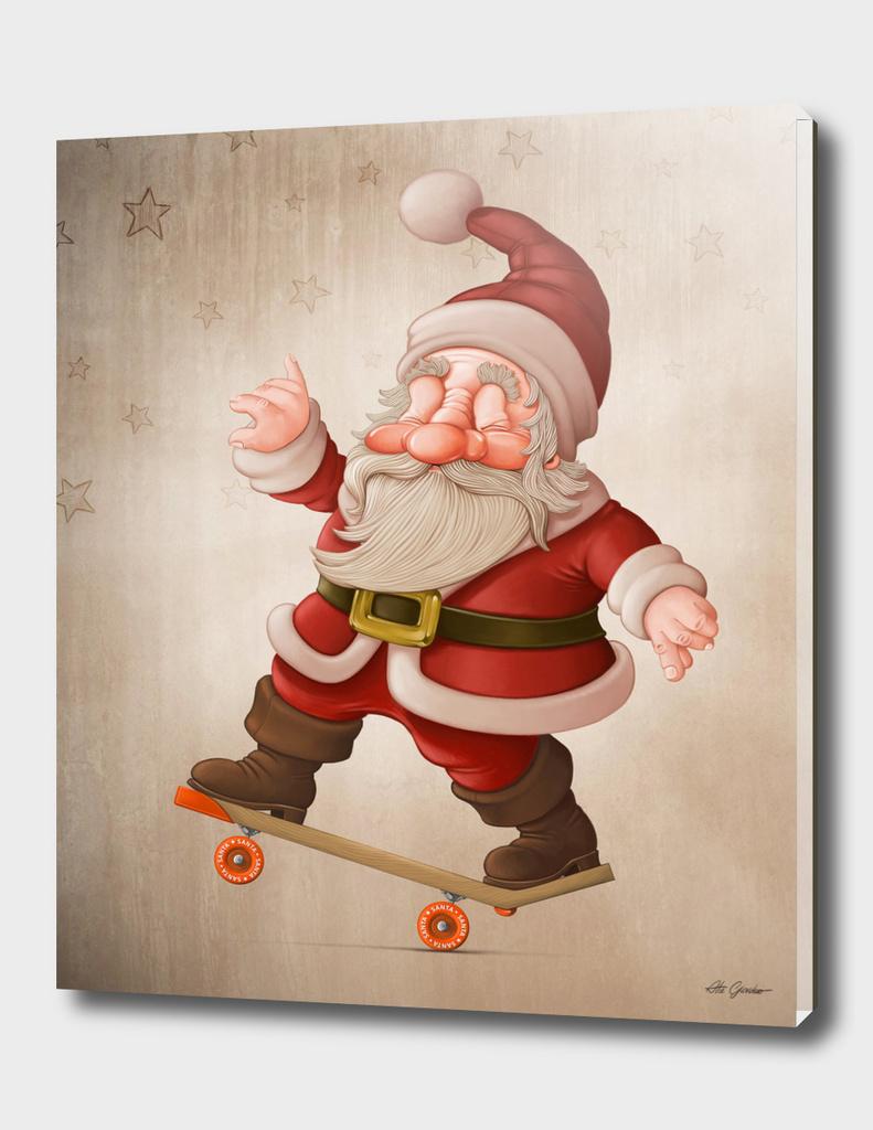 Santa on skateboard