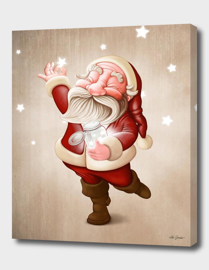 Santa collects stars