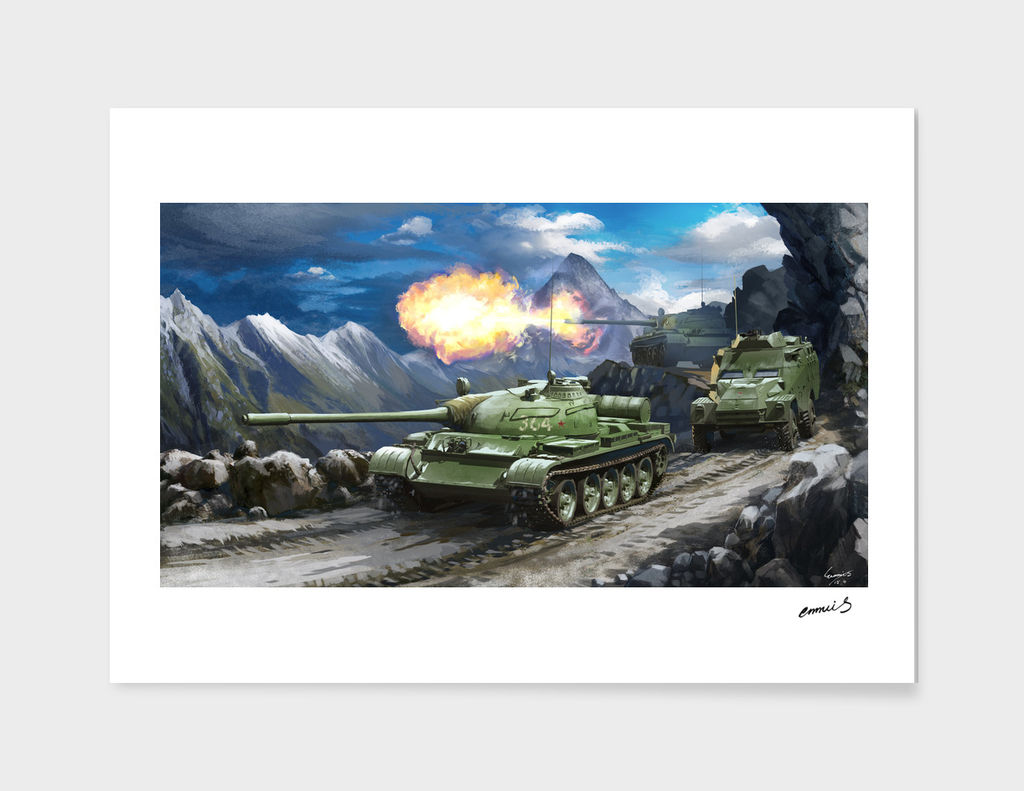 T-55 Tank and BTR-40