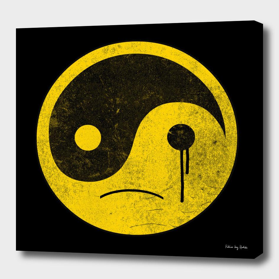 sad yin yang  smiley