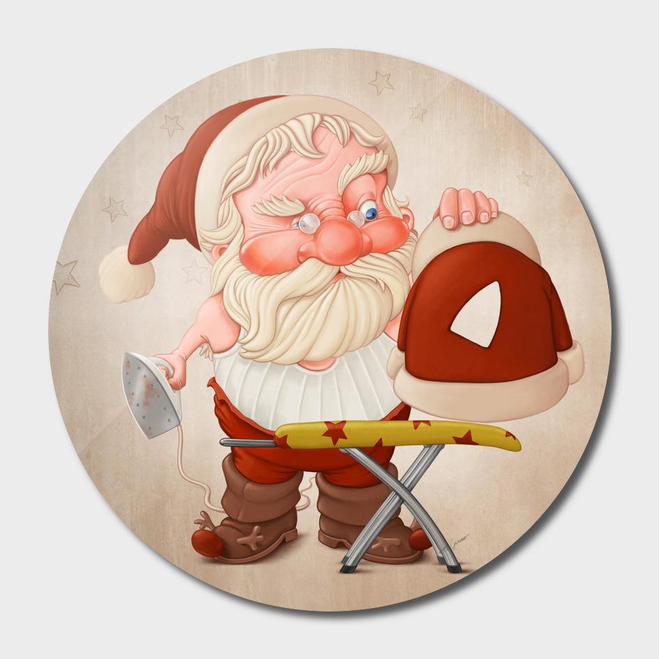 Santa with iron flat