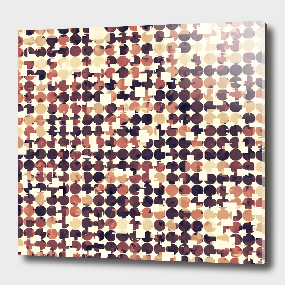 geometric square and circle pattern abstract in brown