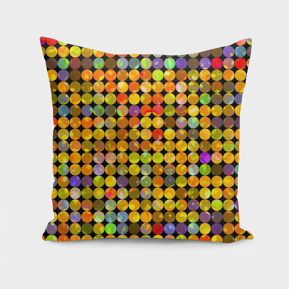 colorful geometric circle pattern abstract in orange yellow