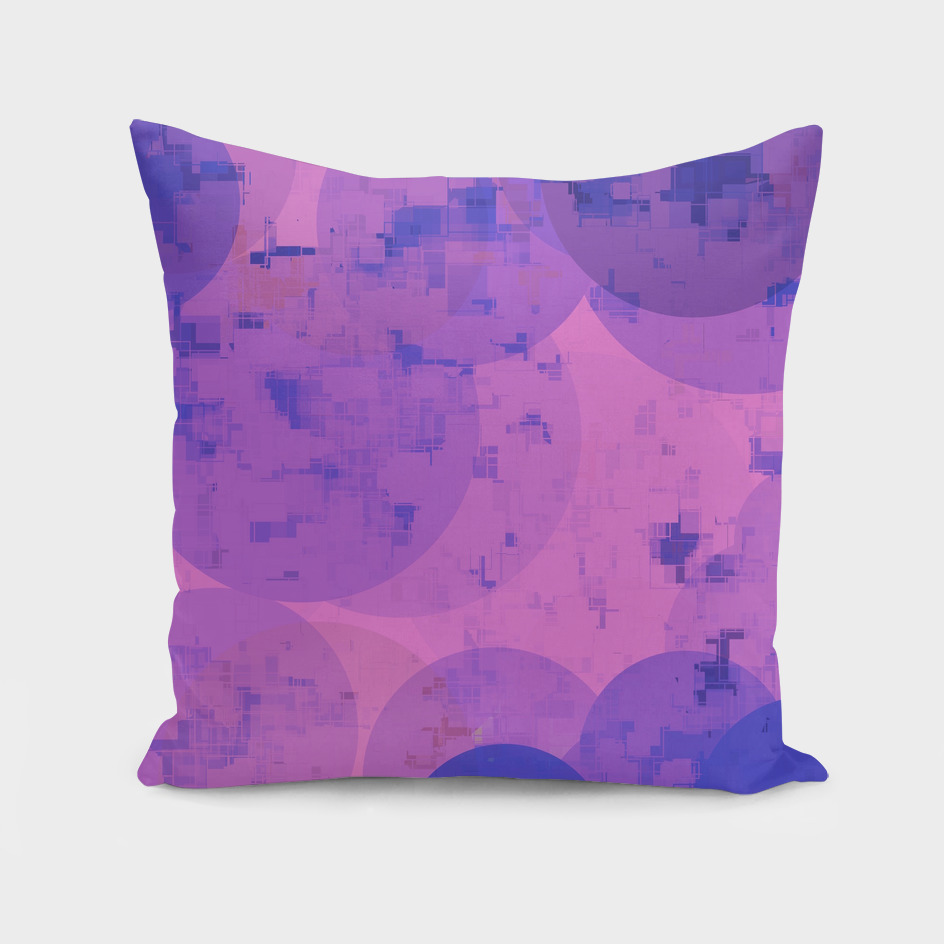 geometric circle and square pattern abstract in pink purple