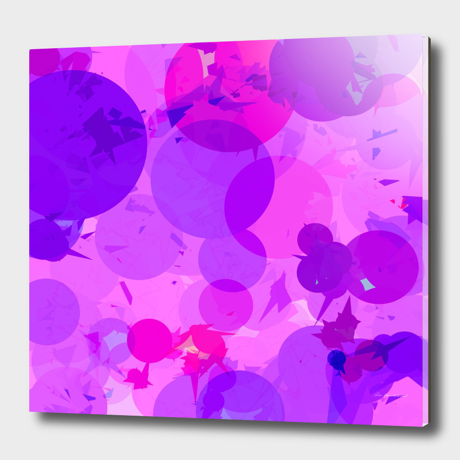 geometric circle triangle pattern abstract in pink purple