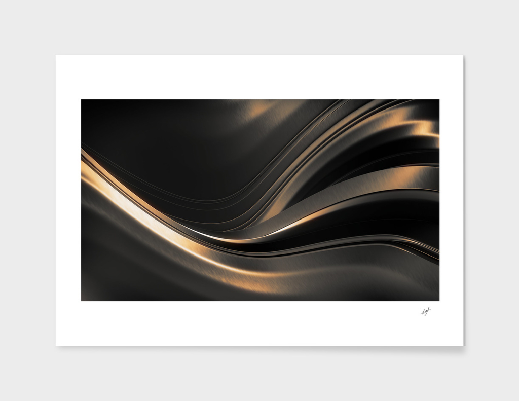Dark Gold Abstraction