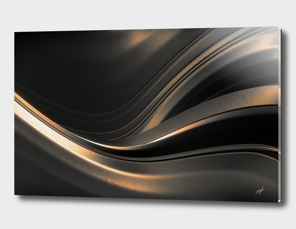 Dark Gold Abstraction