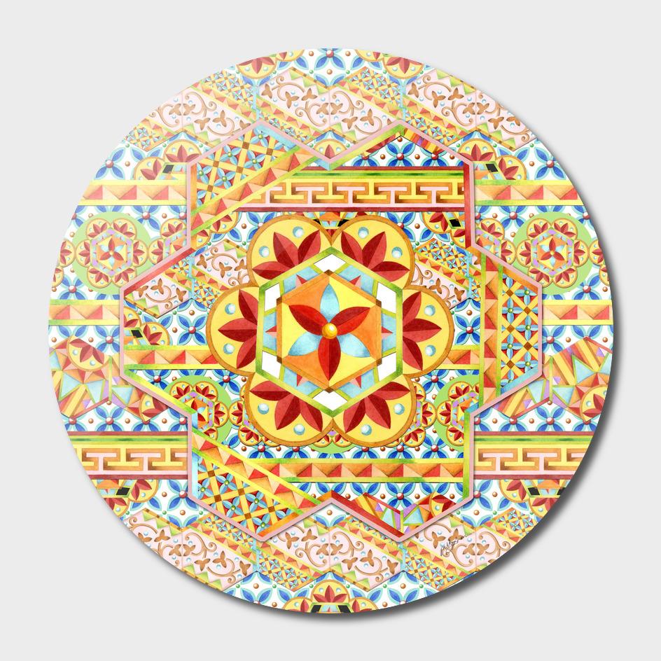 Boho Chic Hexagons