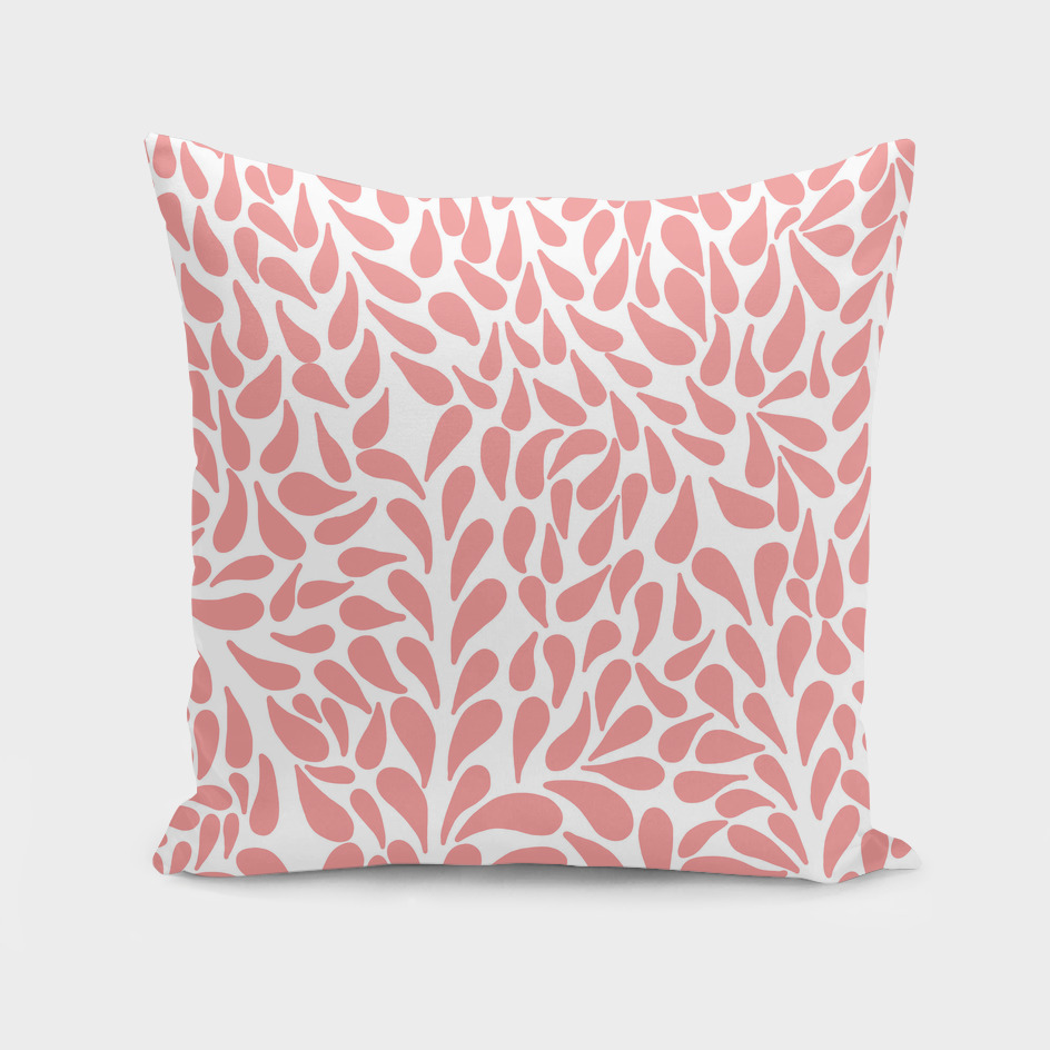 Elegant Abstract Blush Drops Pattern
