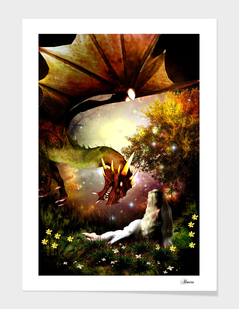 The girl and the dragon