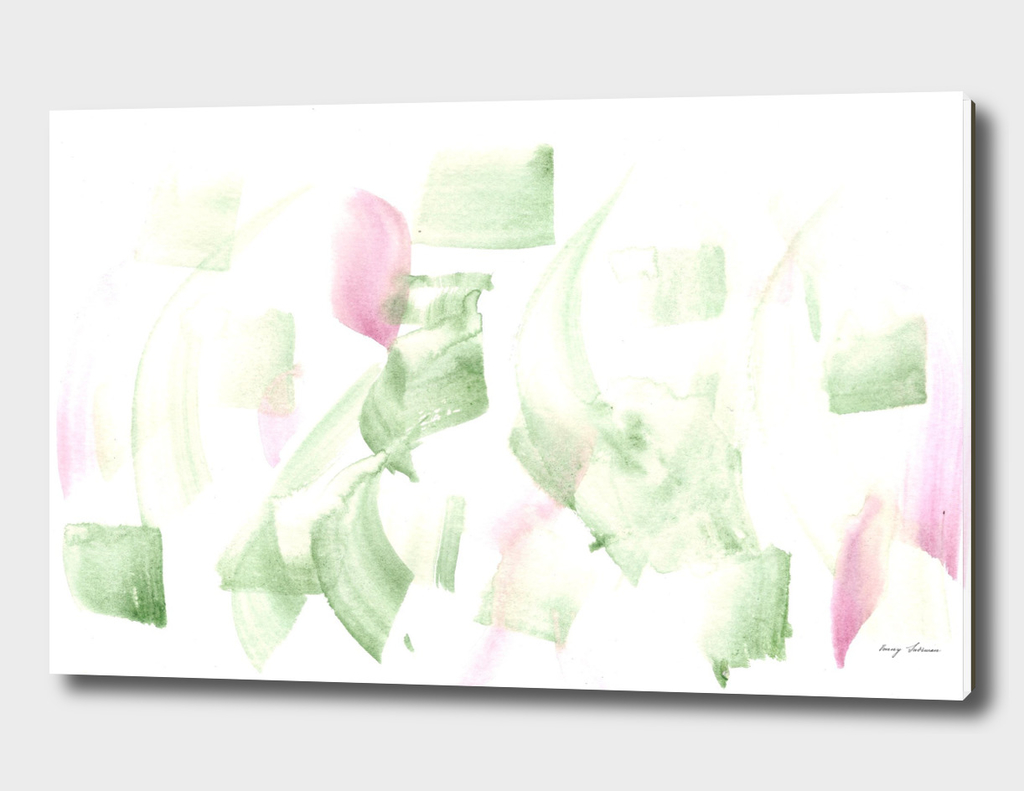 180515 Abstract Watercolour Green Violet 2