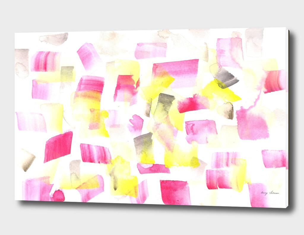 1180515 Abstract Waterolour Pink Yellow 1