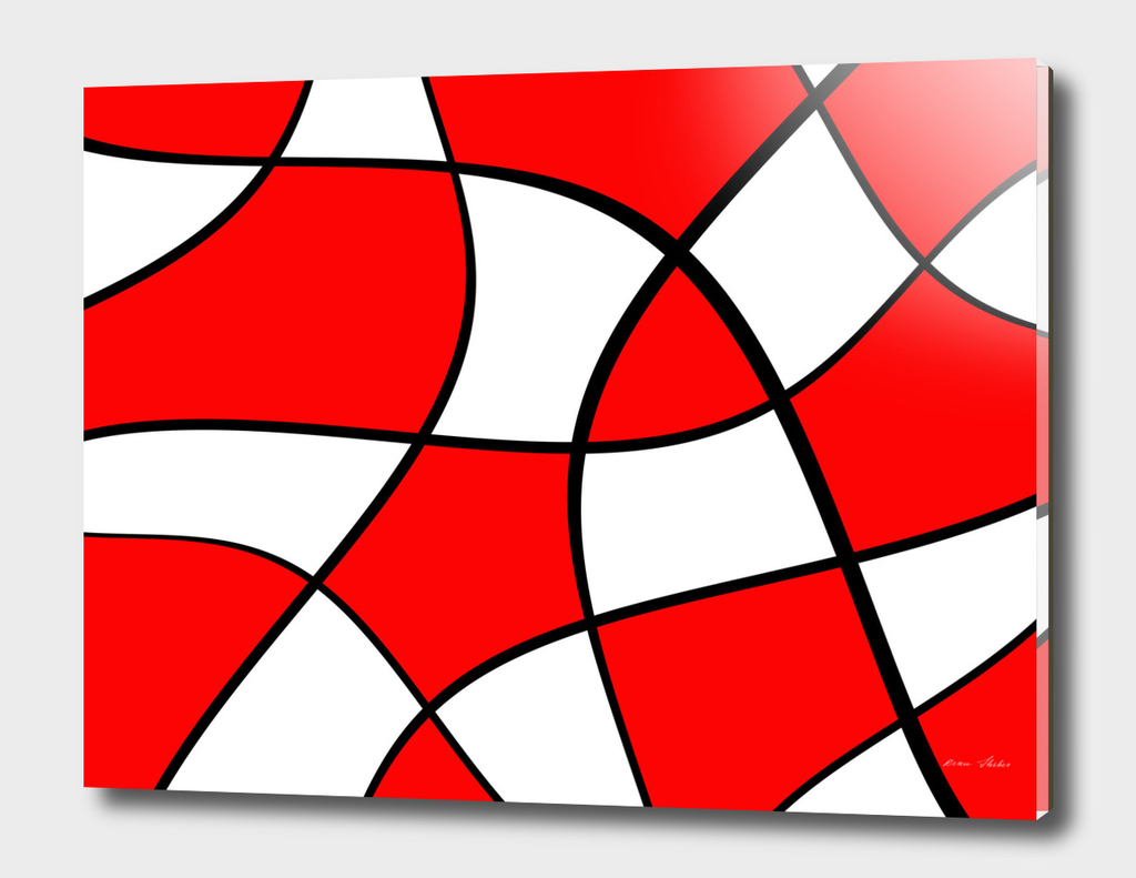Abstract pattern - red, black and white.