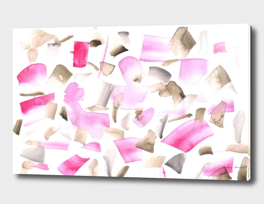 180515 Abstract Waterccolour Pink Brown 11