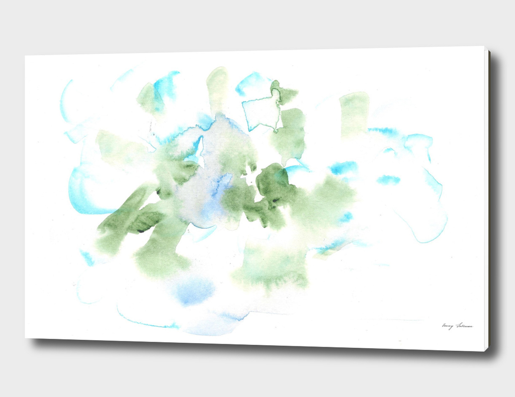 180515 Abstract Watercolour Green Blue 17