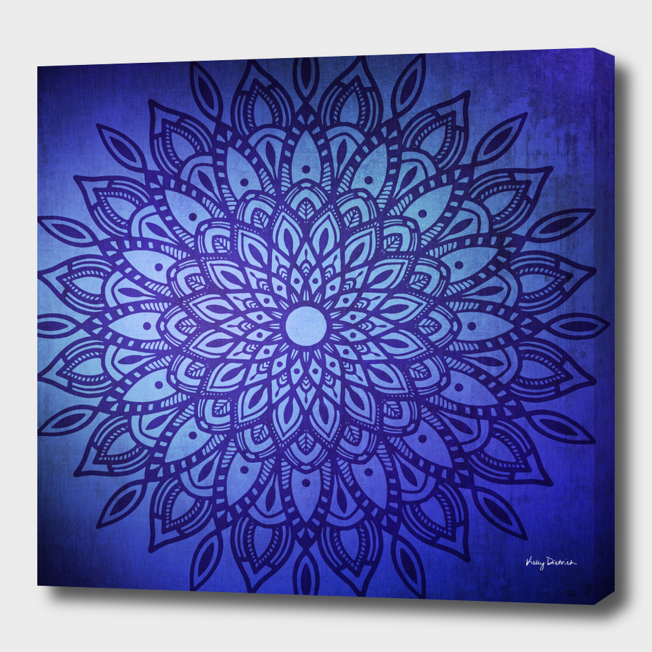 Dark Mandala in Blue