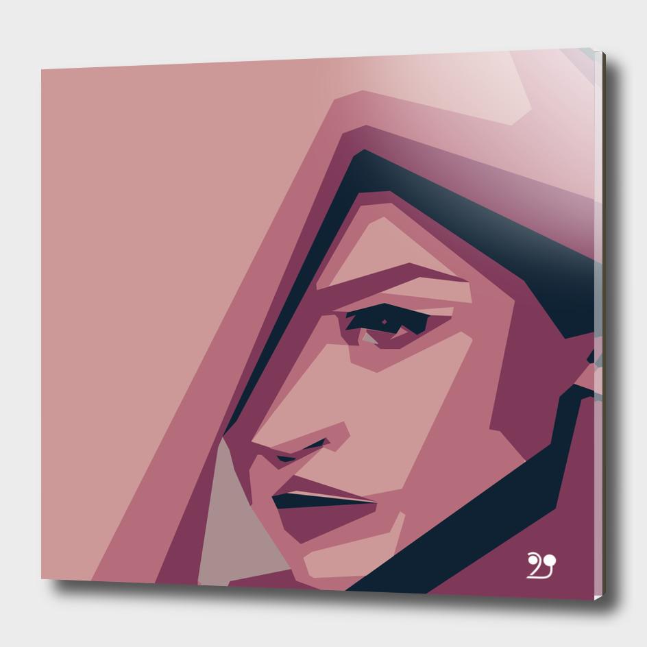 Woman minimal geometric