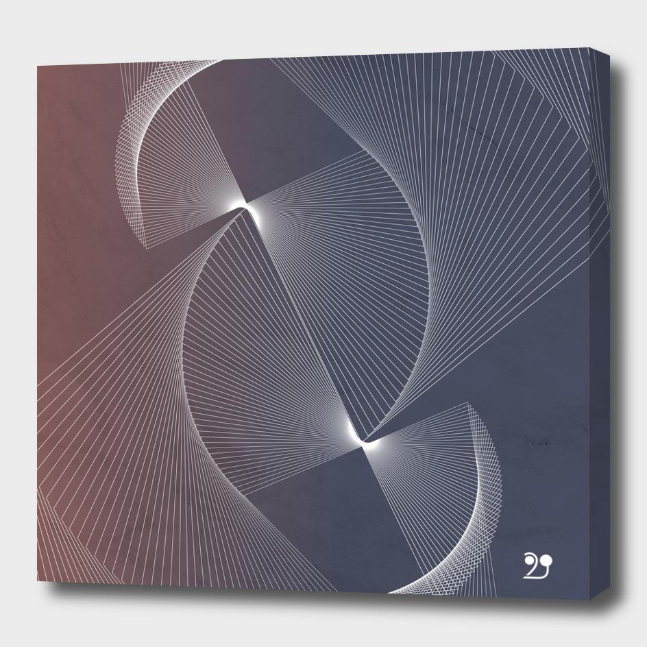 Elegant minimal abstract chic art