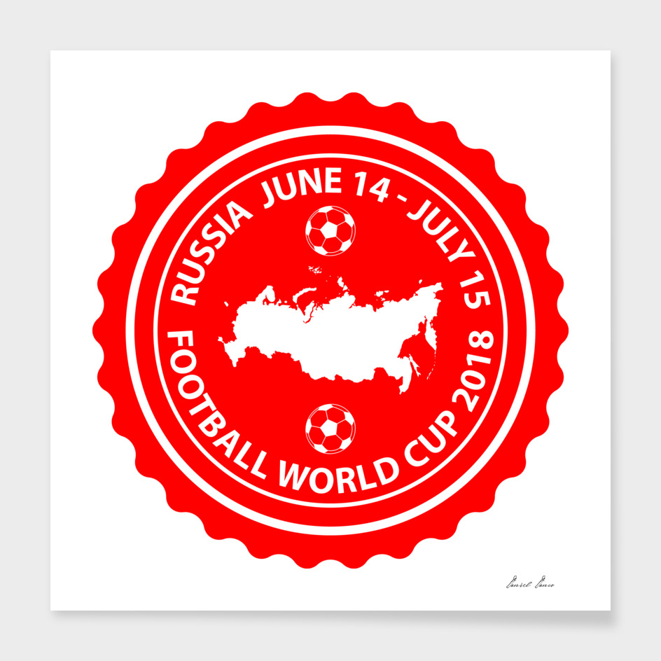 Football World Cup 2018  red