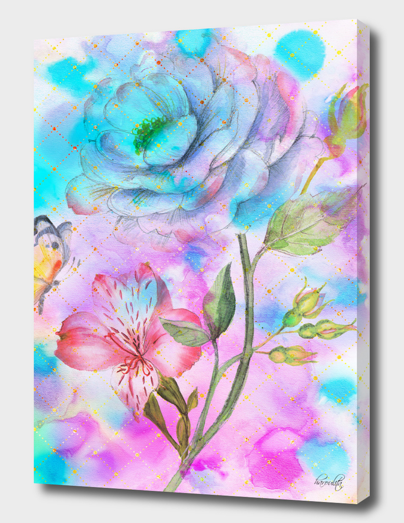 floral alcohol ink painting