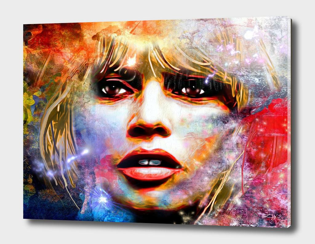 Brigitte Bardot Painted