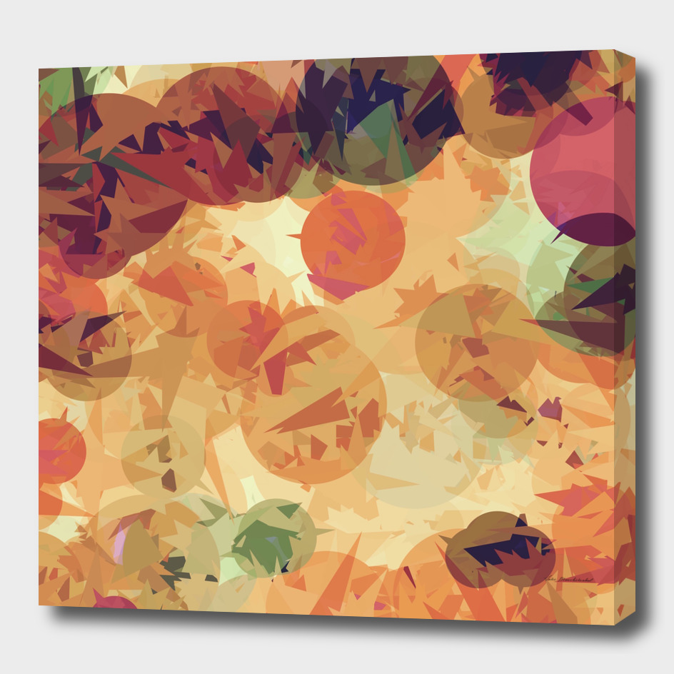 geometric circle pattern abstract background in orange brown