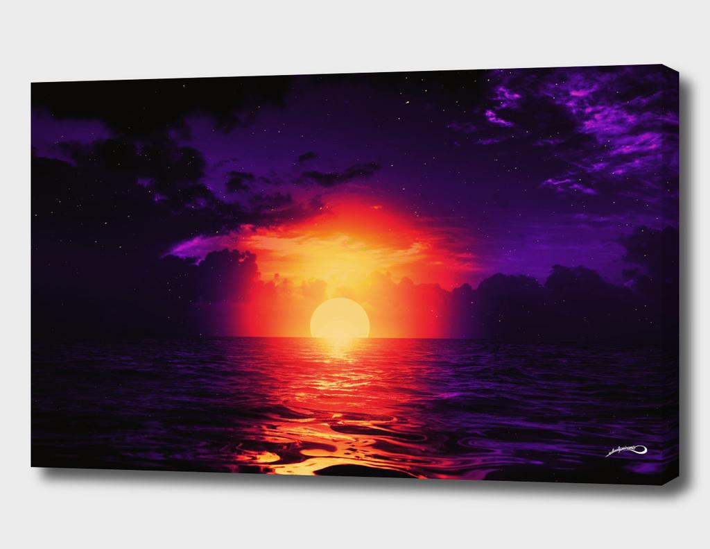 Fire purple cloud by #Bizzartino