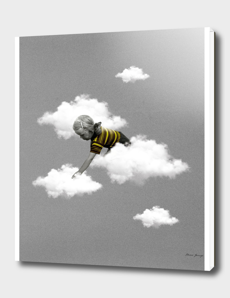 little girl in the clouds