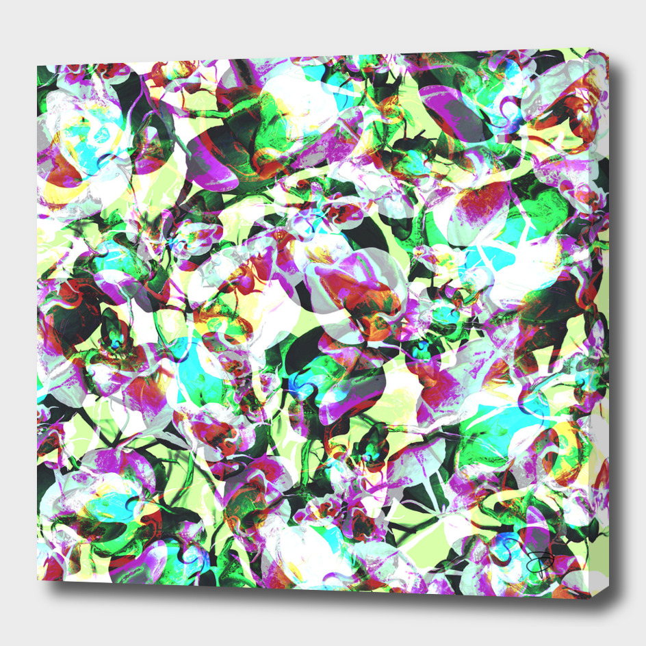 Bright Abstract Floral Camo
