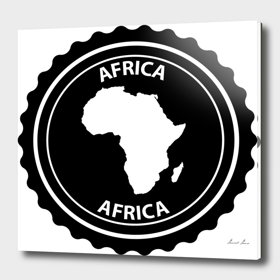 Africa rubber stamp